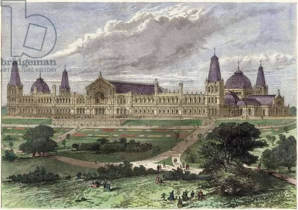 The Alexandra Palace (coloured engraving)