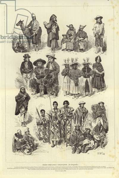 Peruvian and Bolivian Native Peoples (engraving)