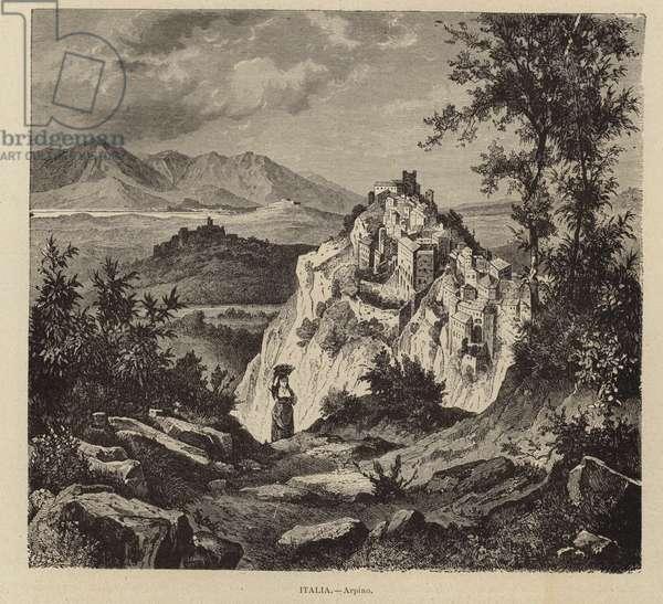 Italy - Arpino (engraving)