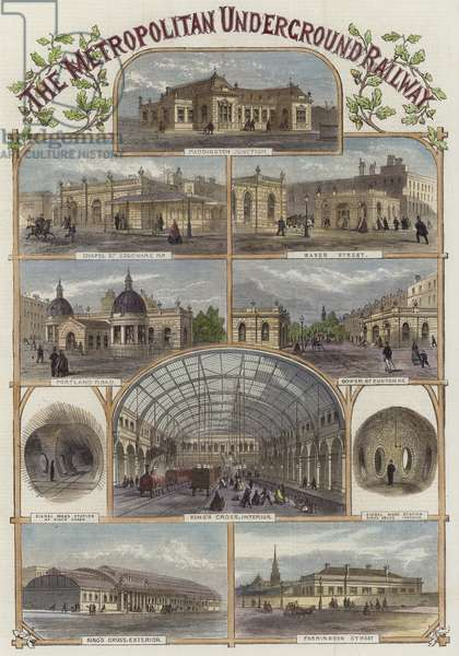 The Metropolitan Underground Railway (coloured engraving)