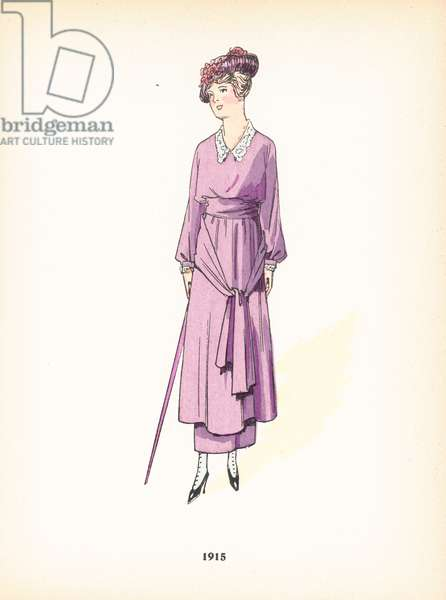 Ladies fashion, 1915 (colour litho)