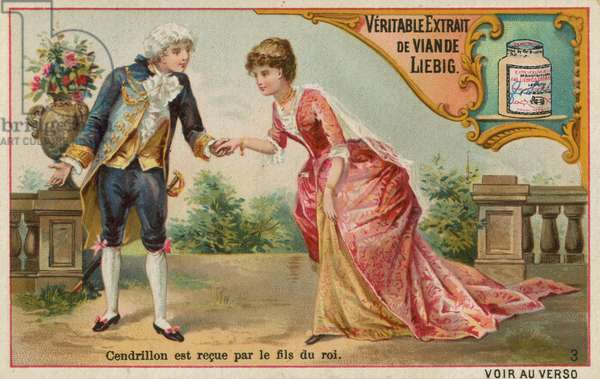 Cinderella Meets the Prince (chromolitho)
