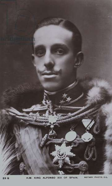 Alfonso XIII, King of Spain (b/w photo)