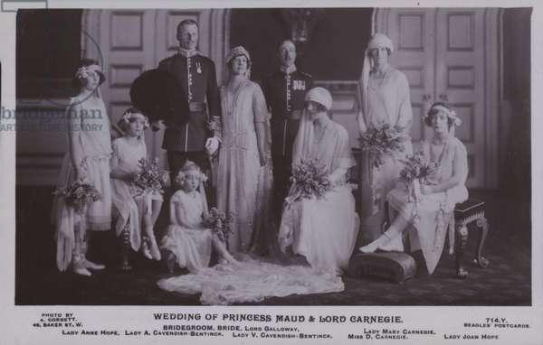 Wedding of Princess Maud and Lord Carnegie (b/w photo)