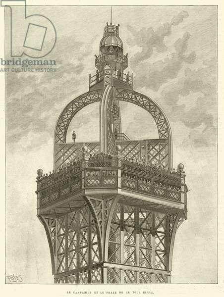 Le Campanile et le Phare de la Tour Eiffel (engraving)