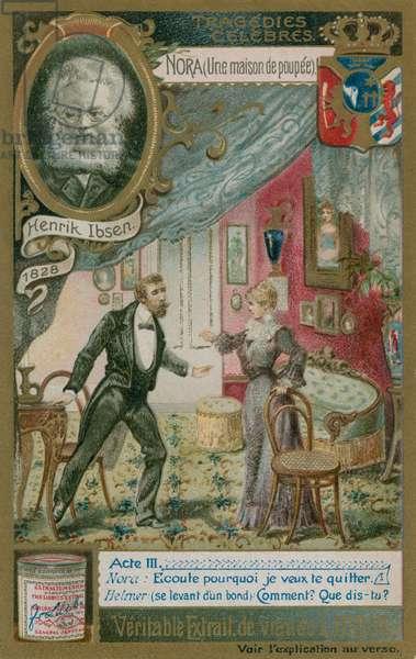 Henrik Ibsen' Nora (The Doll's House) (chromolitho)