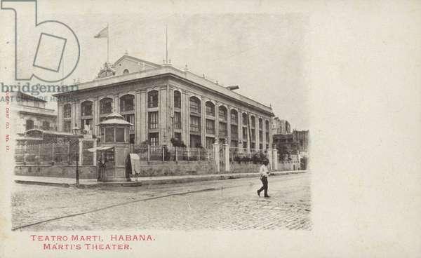Marti Theatre, Havana, Cuba (b/w photo)