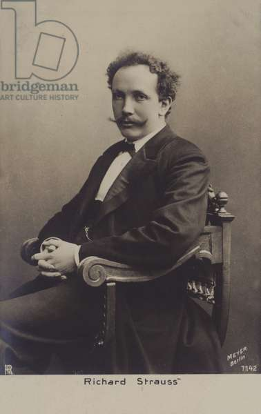 Richard Strauss, German composer (b/w photo)