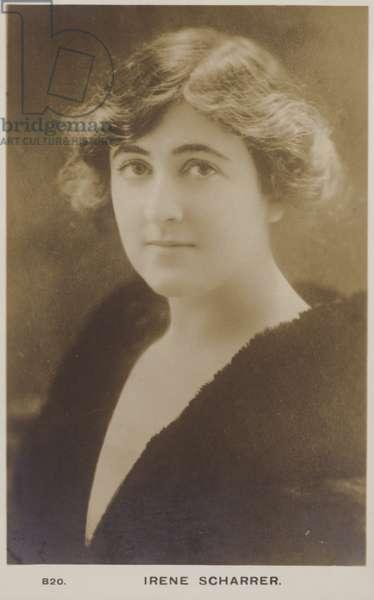 Irene Scharrer (b/w photo)