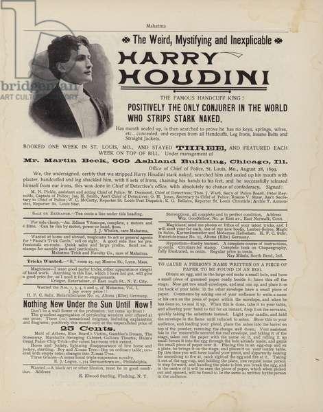 Harry Houdini (litho)