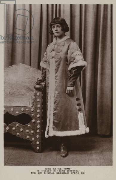 Ethel Toms as Feodor in Boris Godunov (b/w photo)