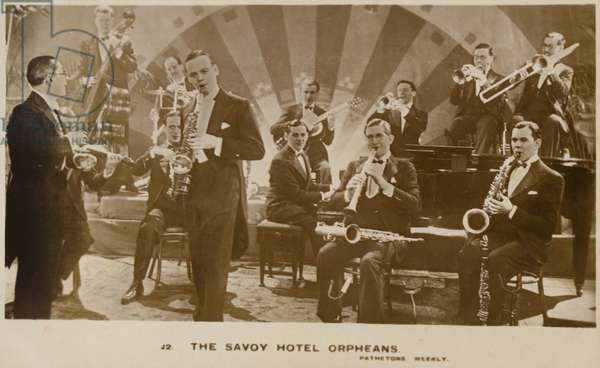 The Savoy Hotel Orpheans (b/w photo)