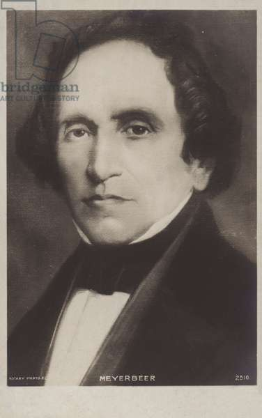 Giacomo Meyerbeer, German composer (litho)