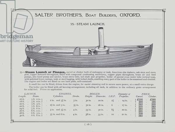 Salter Brothers, Boat Builders, Oxford (litho)