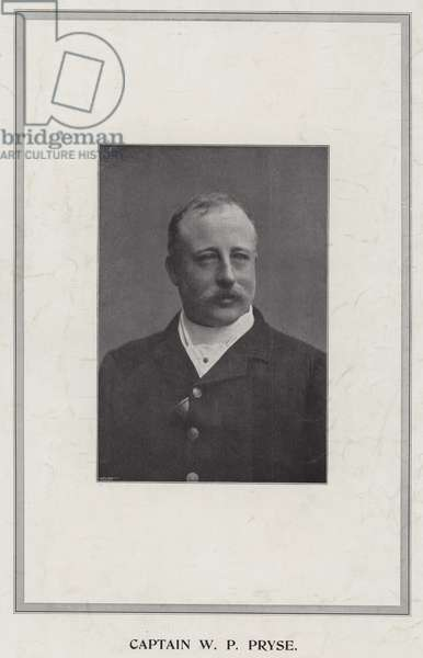 Captain W P Pryse (b/w photo)