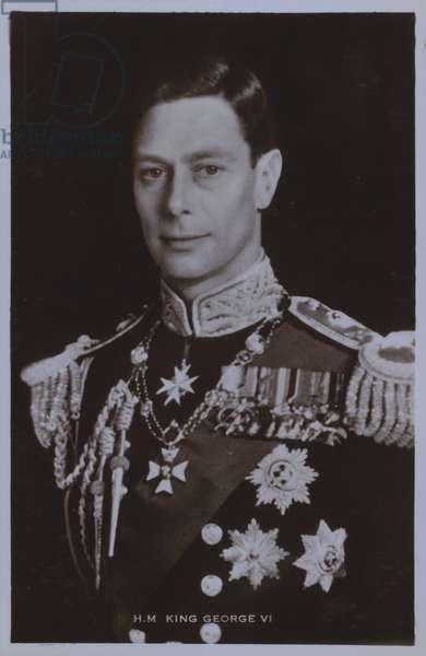 HM King George VI (b/w photo)