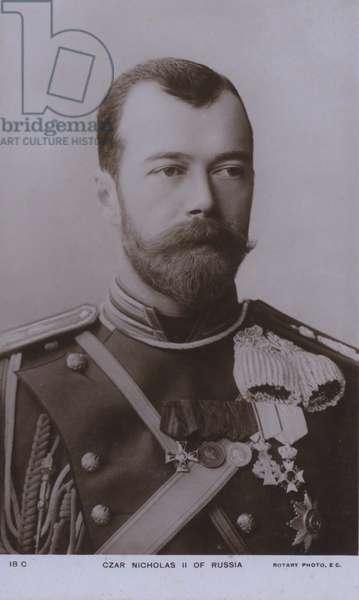 Nicholas II, Tsar of Russia (b/w photo)
