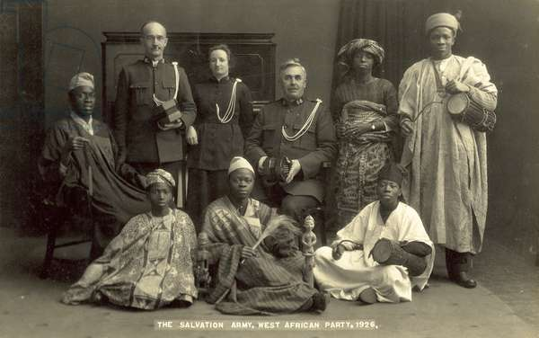 The Salvation Army, West African Party, 1926 (b/w photo)