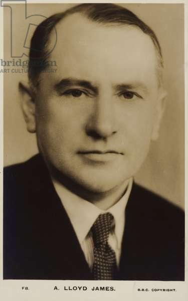 A Lloyd James (b/w photo)