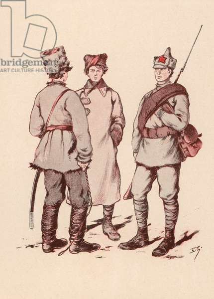 Soldiers of the Soviet Red Army (colour litho)