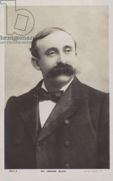 Andrew Black, Scottish baritone (b/w photo)