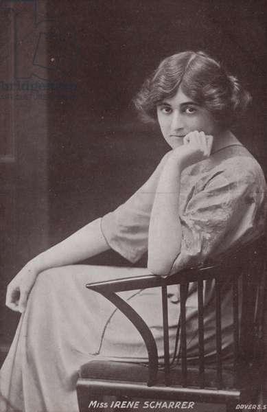 Irene Scharrer, English pianist (b/w photo)