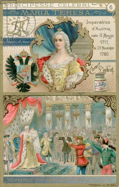 Queen Maria Theresa (chromolitho)