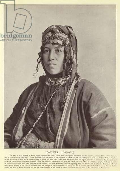 Zareefa, Bedouin (b/w photo)