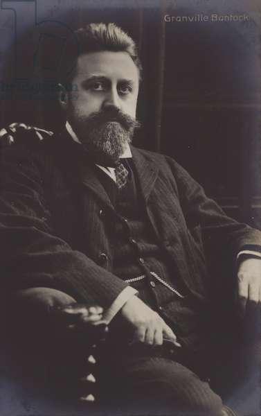 Granville Bantock, British composer (b/w photo)