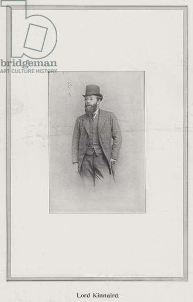 Lord Kinnaird (b/w photo)