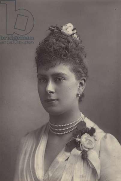 Princess Victoria Mary of Teck (b/w photo)