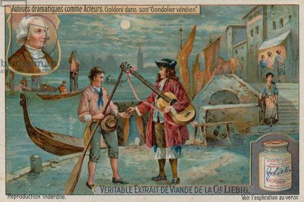 Carlo Goldoni in The Venetian Gondolier or the Lover's Scorn (chromolitho)