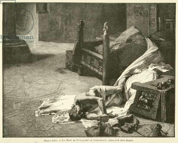 Beaux-Arts, La Mort de Guillaume le Conquerant, tableau de M Albert Maignan (engraving)