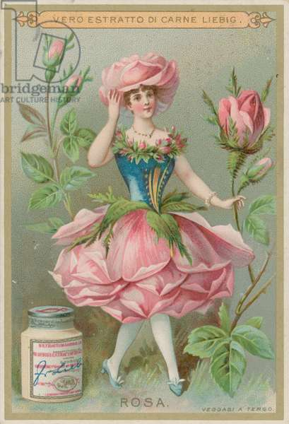Rose Flower Girl (chromolitho)