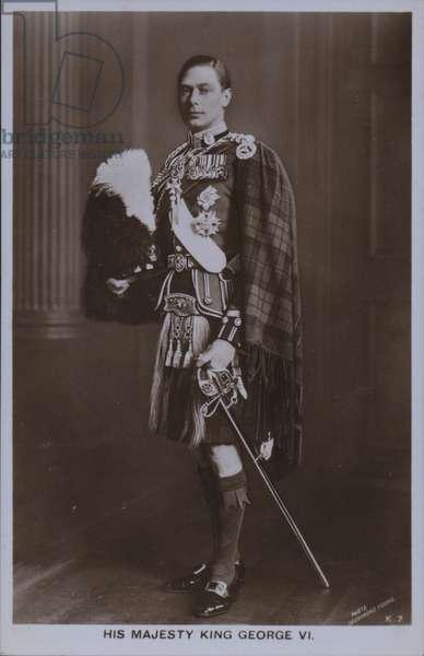 His majesty King George VI (b/w photo)