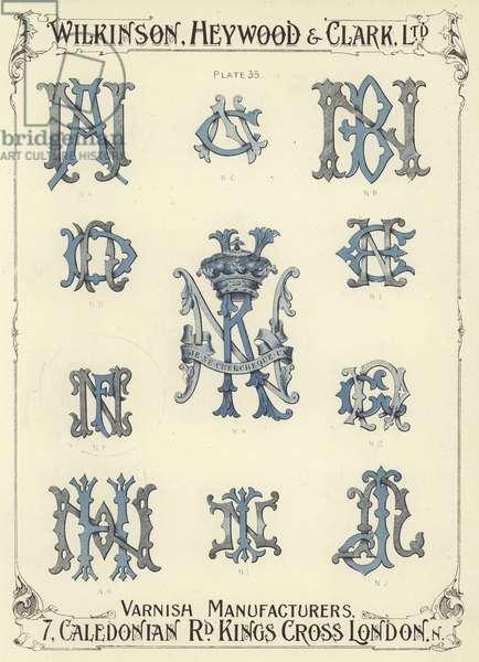 NA, NC, NB, ND, NK, NE, NF, NG, NH, NI, NJ (chromolitho)