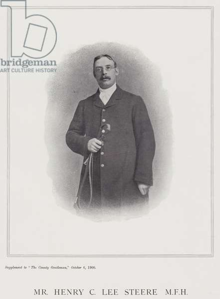Mr Henry C Lee Steere, MFH (b/w photo)