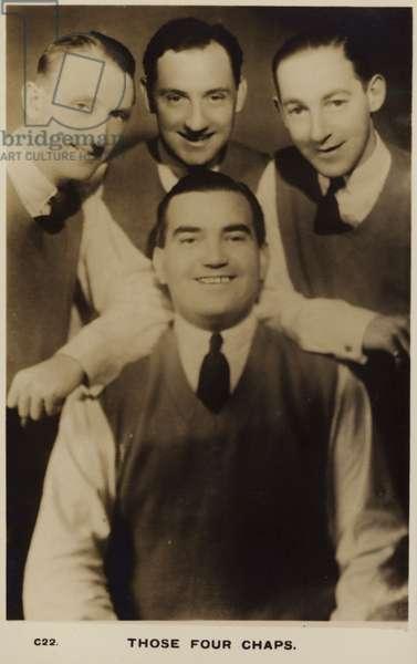 Those Four Chaps (b/w photo)