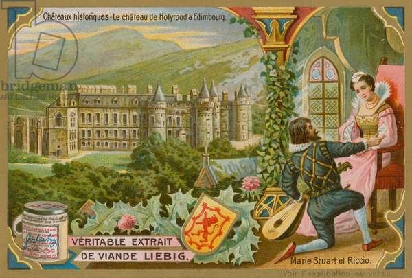 Holyrood Palace in Edinburgh (chromolitho)