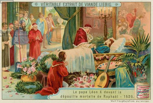 The Death of Raphael (chromolitho)