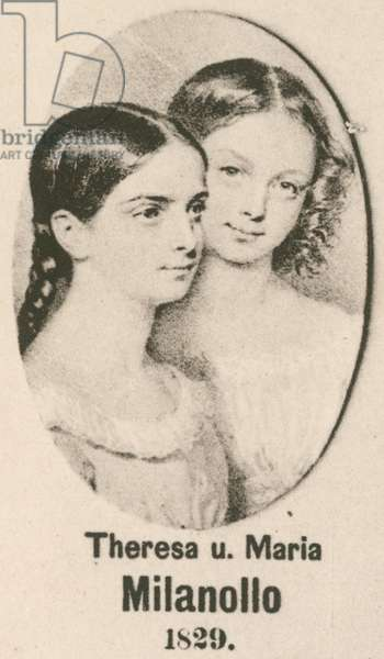 Theresa and Maria Milanollo (gravure)