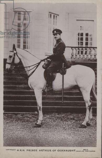 HRH Prince Arthur of Connaught (b/w photo)