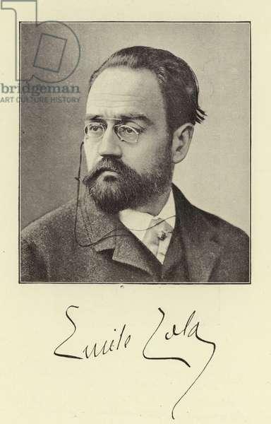 M Emile Zola (b/w photo)