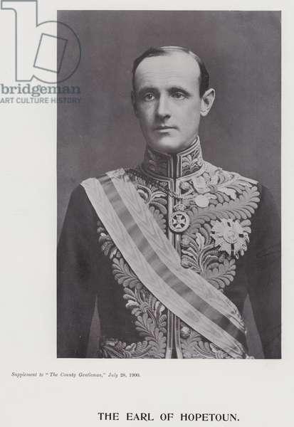 The Earl of Hopetoun (b/w photo)