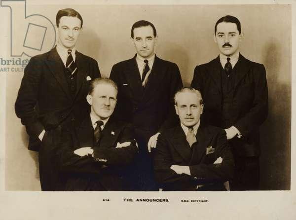 The Announcers (b/w photo)