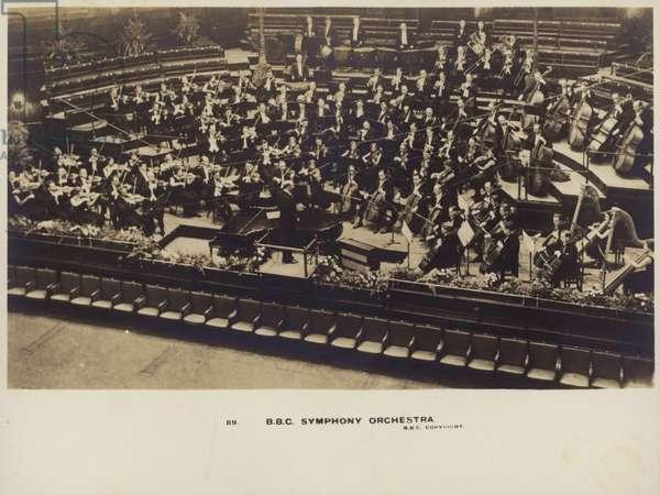 BBC Symphony Orchestra (b/w photo)