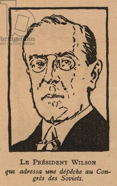 Woodrow Wilson, American politician and 28th President of the United States (litho)