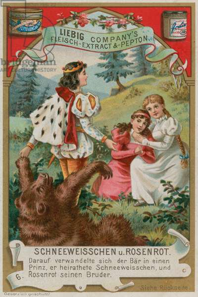 The Bear Turns into a Prince (chromolitho)