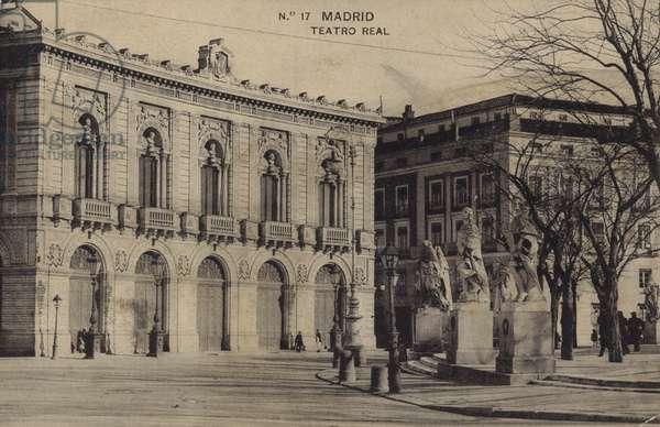 Teatro Real, Madrid (b/w photo)