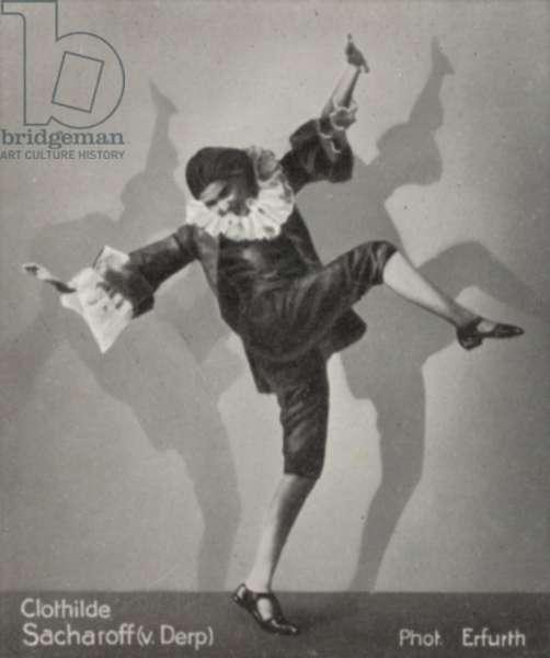Clothilde Sacharoff (v. Derp) (b/w photo)